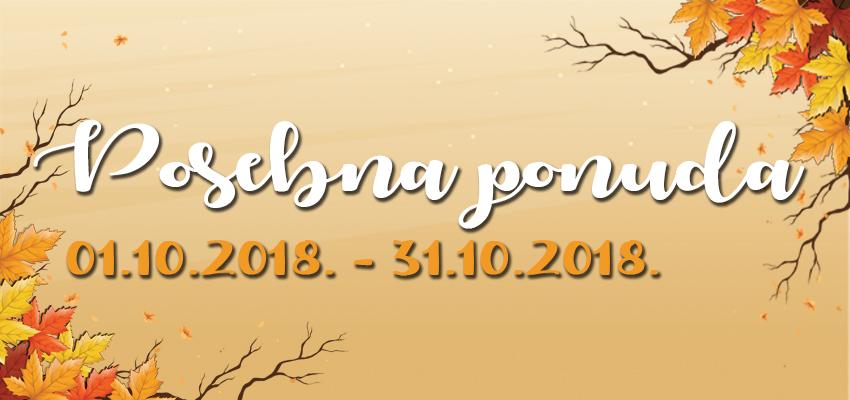 Posebna ponuda - Oktobar 2018