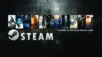 Steam Bon u prodaji na cijeloj mreži kioska iNovina!