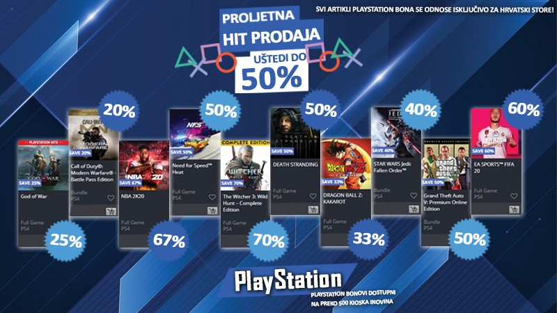 PlayStation Spring Sale - Uštedi do 50%