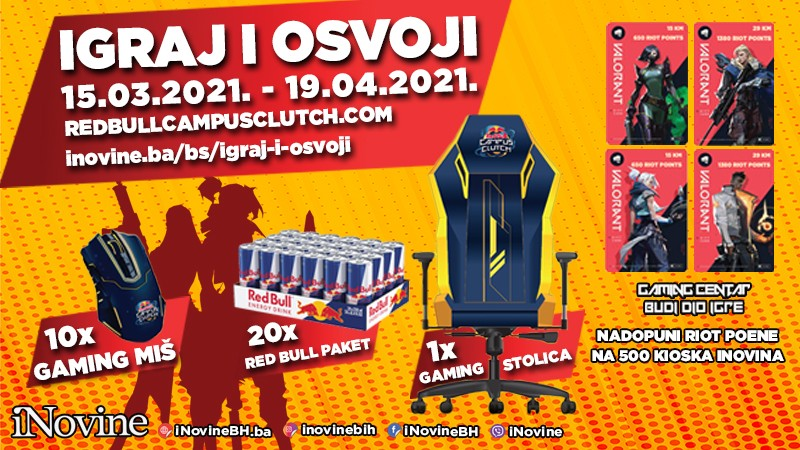Nagradna Igra - Igraj i Osvoji - Red Bull Campus Clutch 2021!